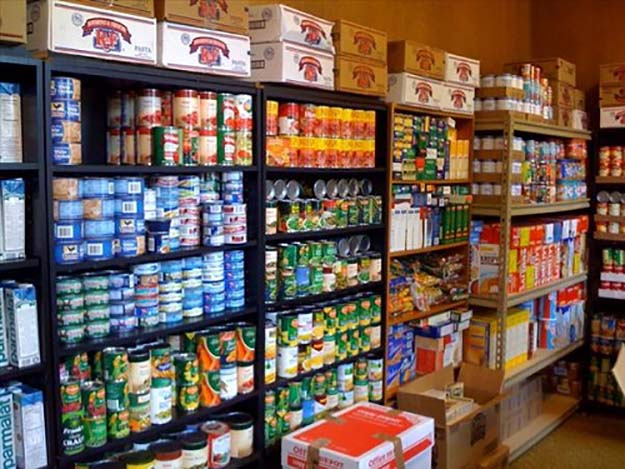 There's something missing from this prepper's stockpile. (Image via)