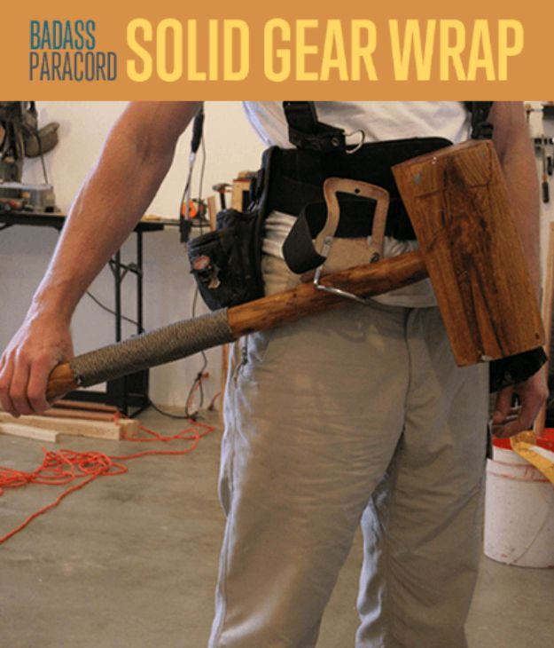 Paracord Projects | Solid Gear Wrap | https://survivallife.com/solid-gear-wrap/