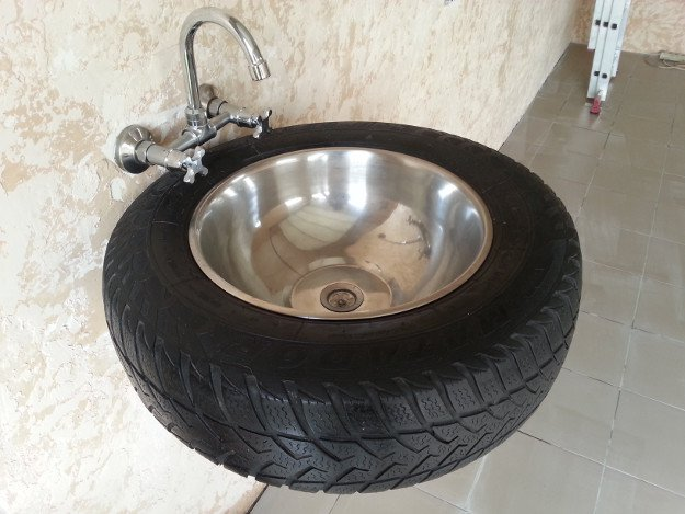 A Sink...That Is Also a Tire | Is Your Man Cave Badass Enough?