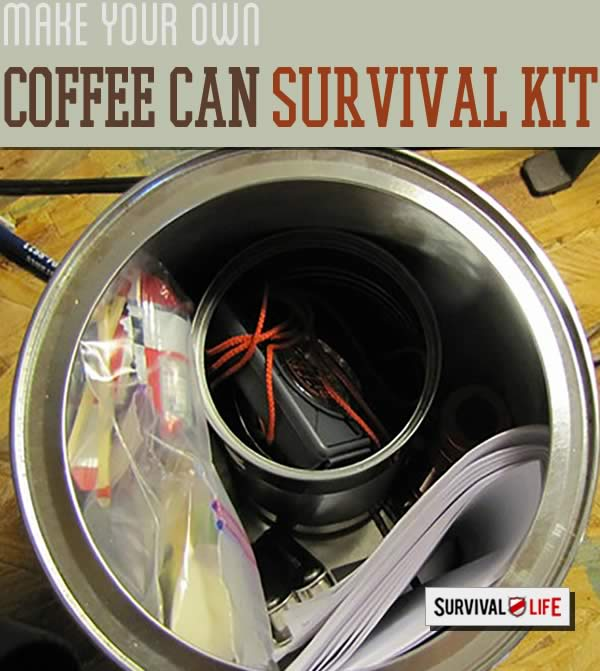 coffee can survival kit for your car