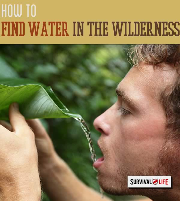 Finding water when lost in the wilderness