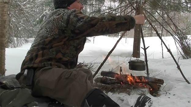 Now, Let's Get Cooking | How To Make Fire On Top Of Deep Snow