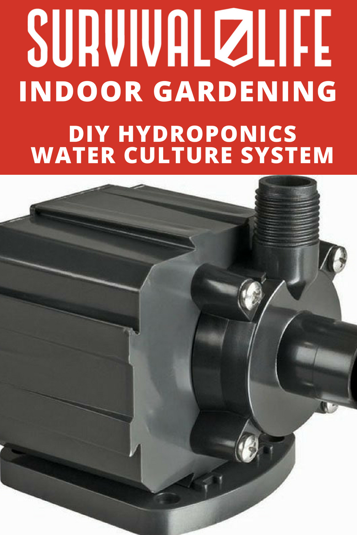 DIY Hydroponics Water Culture System For Indoor Gardening | https://survivallife.com/diy-hydroponics-water-culture-system/