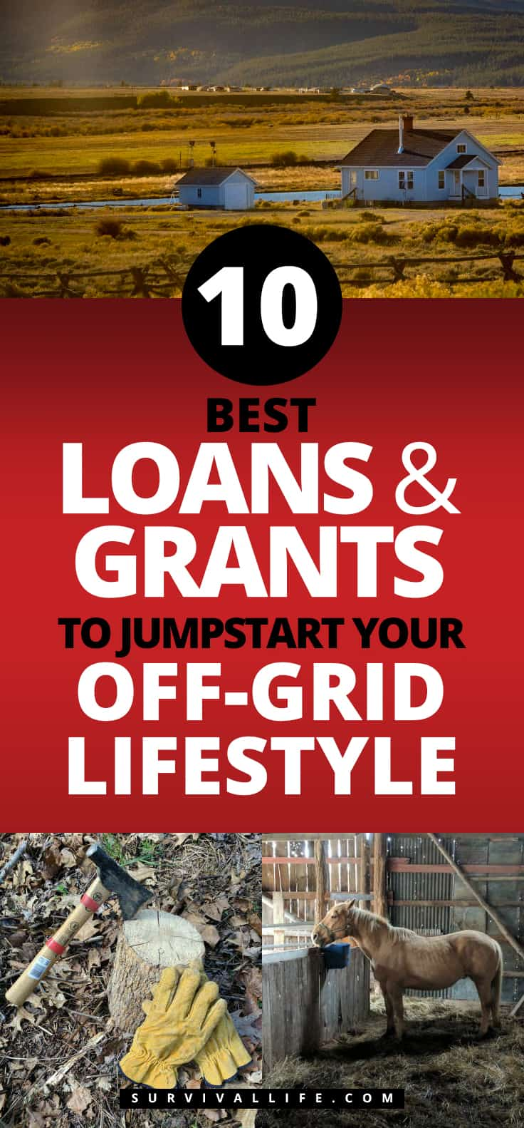 Best Loans And Grants To Jumpstart Your Off-Grid Lifestyle | https://survivallife.com/loans-grants-preppers-homesteaders/