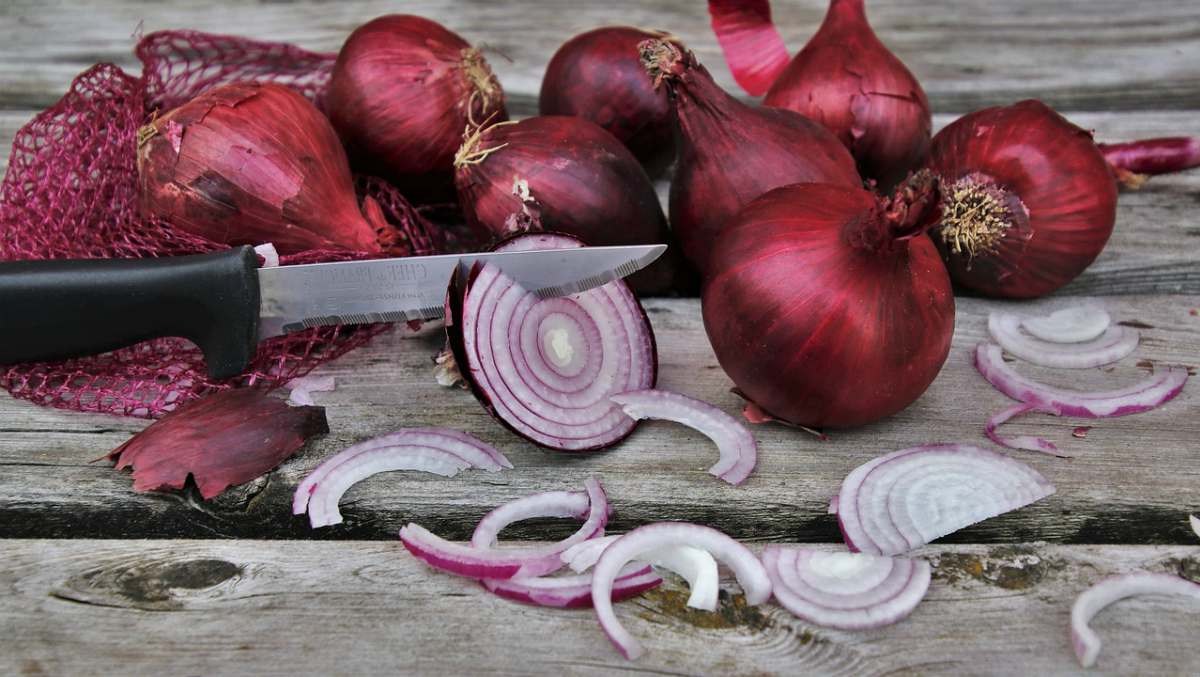 Slicing onion in wooden table | Home Remedies For Toothache Pain Relief