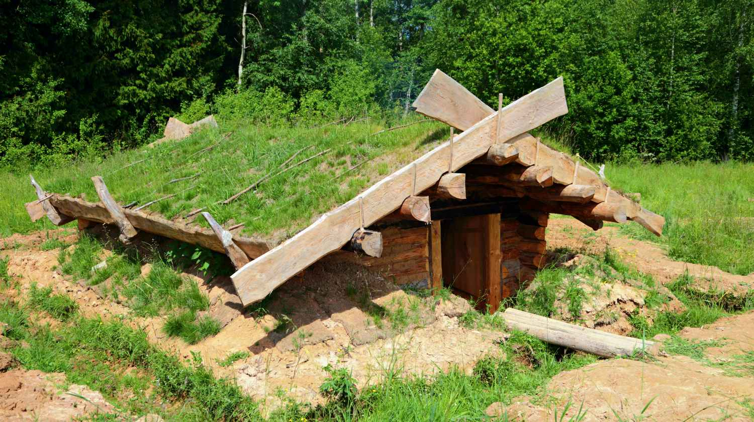 Feature | A pit-house on the edge of the forest | How To Create A Dug Out Survival Shelter