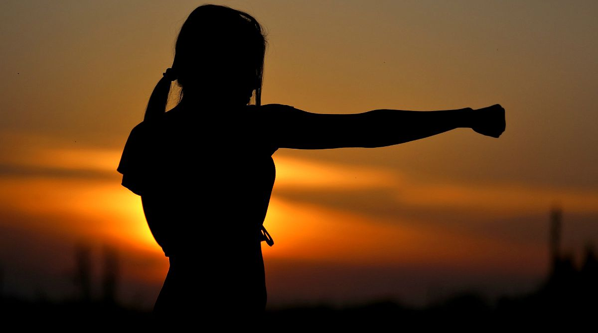 Silhouette of woman doing karate | Self-Defense Martial Arts For Personal Safety And Survival